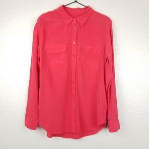 Equipment Slim Signature Silk Shirt Blouse Large